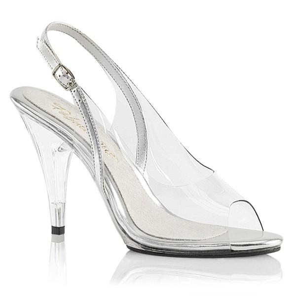 Sandalias transparentes con pulsera en el talón - Fabulicious Caress-450