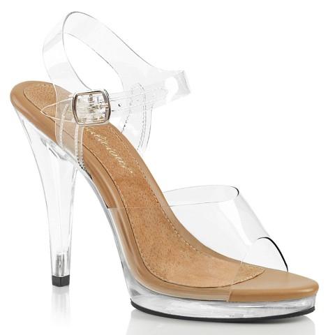 Sandalias transparentes combinadas con beige - ¡DESDE LA TALLA 36 HASTA L A 46!! - Fabulicious Flair-408