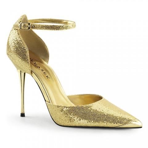 Zapatos de salón dorados con escote D'orsay y tacón stiletto - ¡¡DESDE LA TALLA 35 HASTA LA 46!! - Pleaser Appeal-21