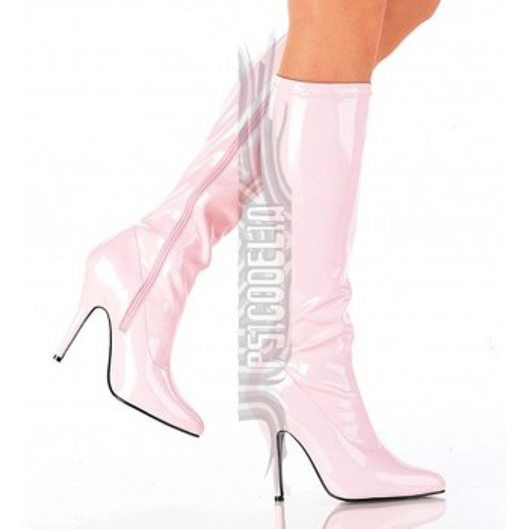 Botas de charol rosa baby con tacón - ¡DESDE LA TALLA 36 HASTA LA 46! - Pleaser Seduce-2000