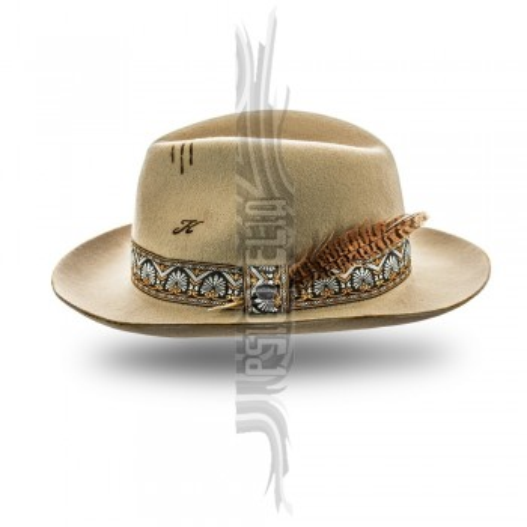 Sombrero unisex color arena de fieltro de lana Pino