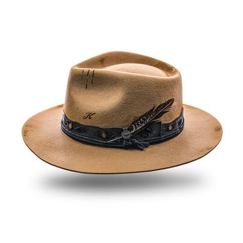 Sombrero unisex color camel de fieltro de lana Quinn
