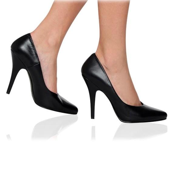 Zapatos de salón de charol negro - ¡DESDE LA TALLA 35 HASTA LA 46! - Pleaser Seduce-420