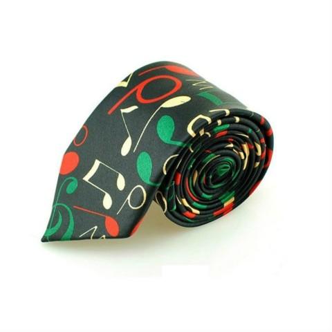 Corbata notas musicales colores