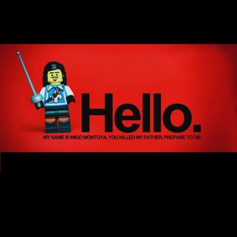 Camiseta PrincessBride Lego