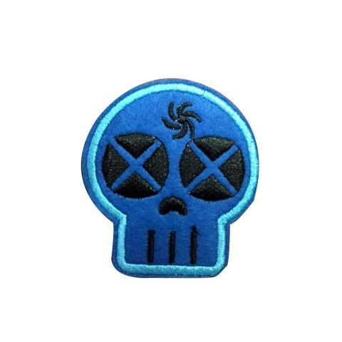 Parche Calavera Azul