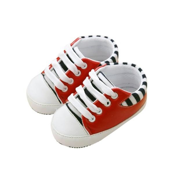 Zapatillas niños Rojas con rayas