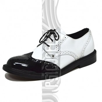 Zapatos Oxford Blanco y Negro Steelground