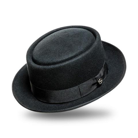 Sombrero unisex de fieltro negro Aaron