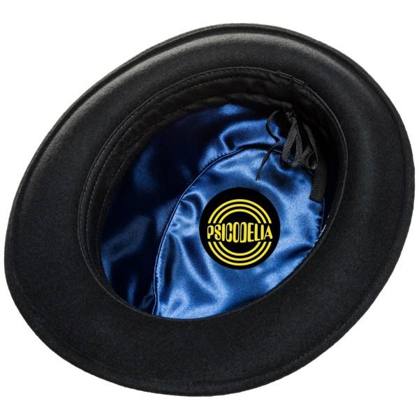 Sombrero unisex de fieltro negro Duke