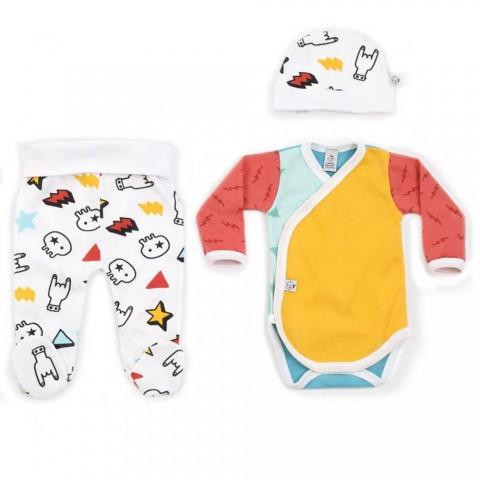Conjunto de ropa para primera puesta bebés rockeros