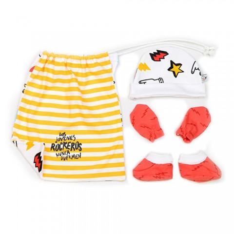 Conjunto de accesorios para primera puesta bebés rockeros
