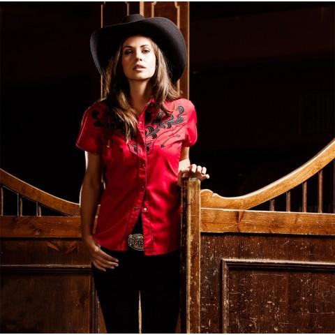 Camisa roja bordada Ella