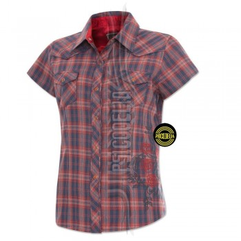 Camisa cuadros con bordado Sedona
