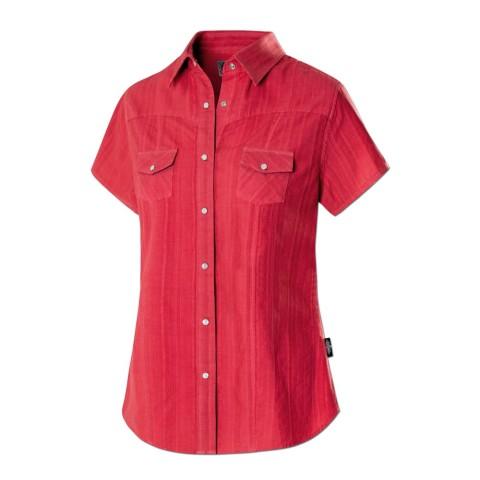 Camisa roja de jacquard Malina