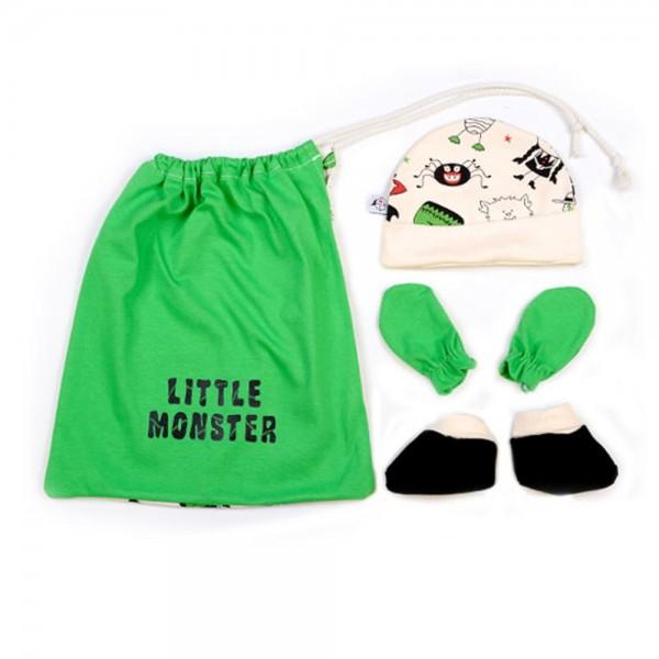 Conjunto de accesorios para primera puesta bebés monster
