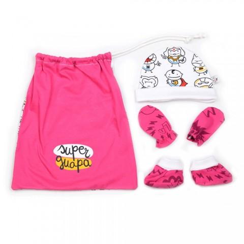 Conjunto de accesorios para primera puesta bebés Super Guapa