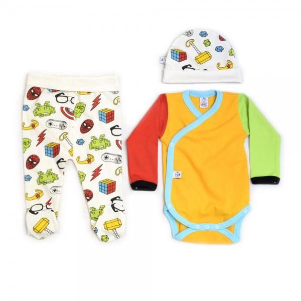 Conjunto de ropa para primera puesta bebe friki