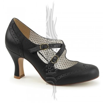 Zapatos Mary Jane en negro con doble correa cruzada