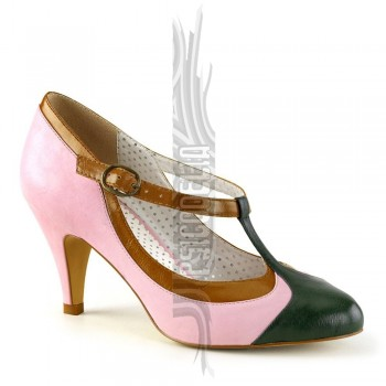 Zapatos pin up tricolor - Rosa