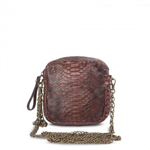Bolso Sendra 506 Python Barriga Cremoisi