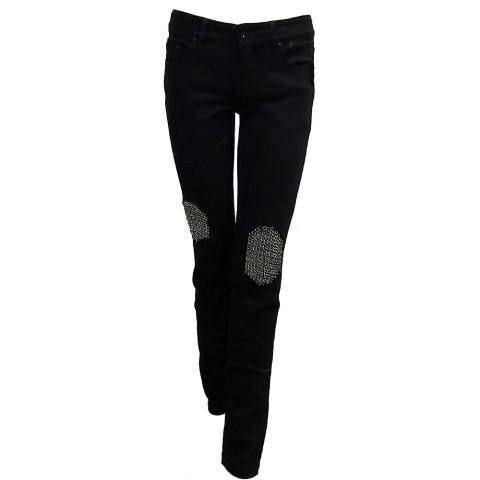 Pantalón negro con rodilleras de cadenas