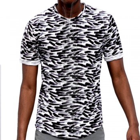 Camiseta de terciopelo con pinceladas
