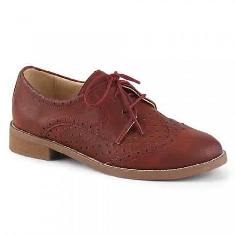 Zapatos Pin up Couture de estilo Oxford en marrón rojizo - Hepburn-26
